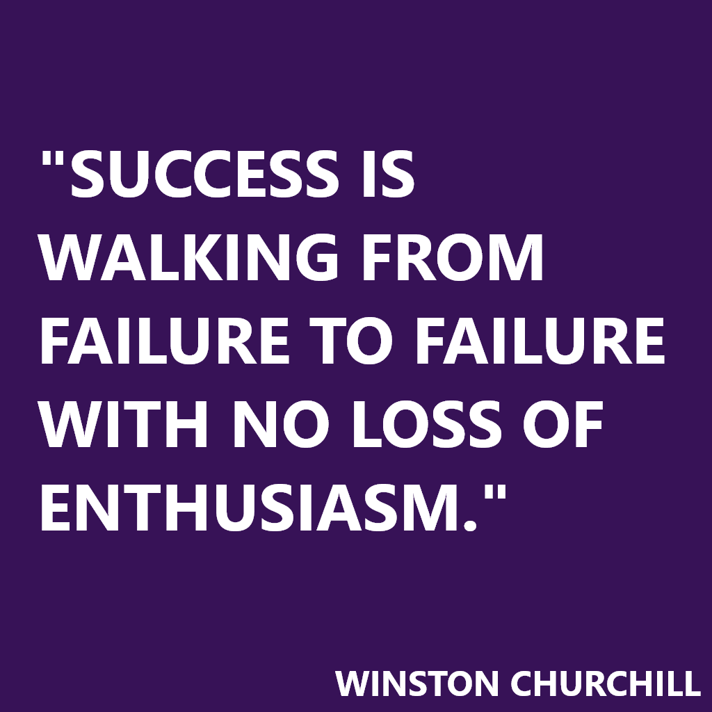 Citation Winston Churchill Success Is Walking From Failure To Failure With No Loss Of Enthusiasm